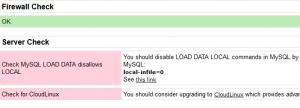 directadmin csf Check MySQL LOAD DATA disallows LOCAL